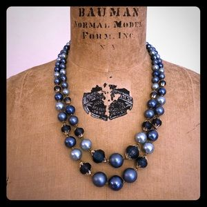 Vintage 2 Strand Beaded Necklace From Hong Kong